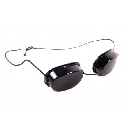 okulary ochronne stosowane przy zabiegu ze zastosowaniu lampy sollux
